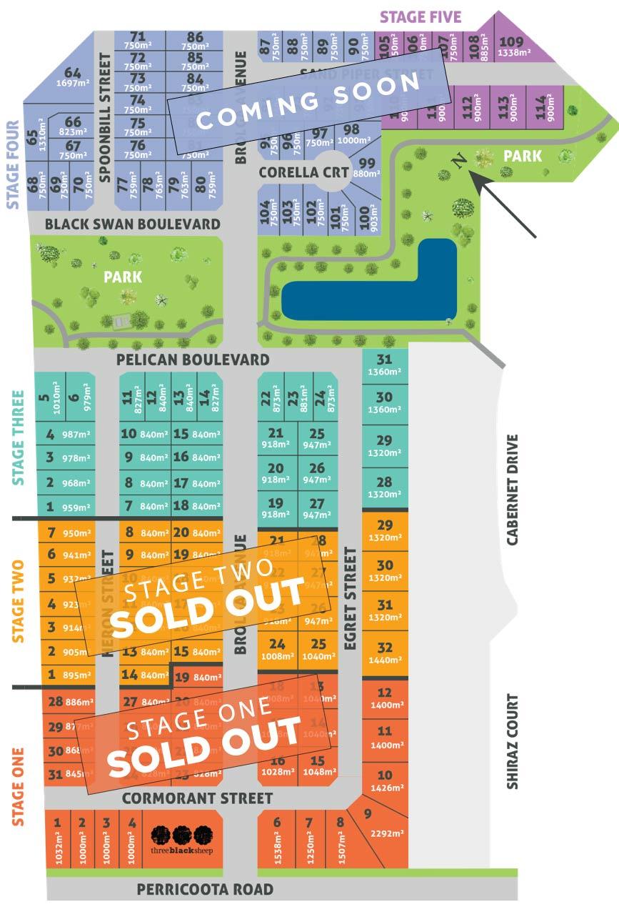 Dungala Estate Marketing Map Aug 2020-03-01